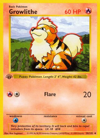 Growlithe (Base Set 28/102)