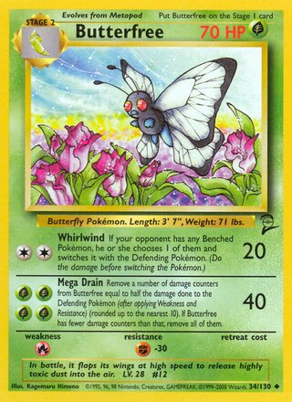 Butterfree (Base Set 2 34/130)